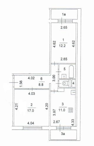 """Поэтажный план двухкомнатной квартиры п 46м офис """"косино"""" не."""